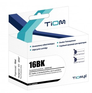 Tusz Tiom do Lexmark 16 | 15 ml |  Z13/23/24/25/33/34/35/601 | black