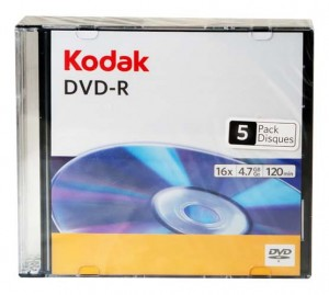 DVD-R 4,7GB KODAK 16X SLIM*5 3936236