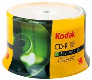 CD-R 700MB KODAK 52X CAKE 100 1210300