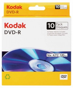 DVD-R 4,7GB KODAK 16X BOX*10 3936183